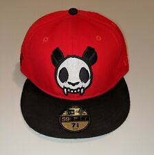 New Era MESS BEIJING The Panda Will Never Die Fitted Hat Cap 7 3/8 59 50 NWT Red