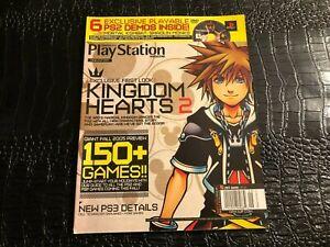 SEPT 2005 PSM PLAY STATION video game magazine (F3-BX8) KINGDOM HEARTS 2