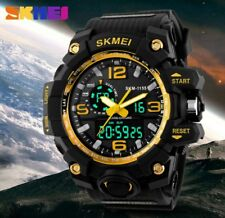 SKMEI Men Women Sports Watch 50M Swimming LED Digital Military Big Dial Watch