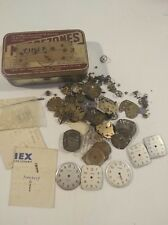 Lot Of Vintage Timex Wristwatch Parts For Spares Or Repair For The Watchmaker