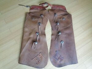 OLD WEST OUTFITTERS~Vintage HIGH Quality Men's (L) BATWING Cutting CHAPS~NR