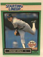 1989 Frank Viola Starting lineup Baseball Card Minnesota Twins MLB Rare Mets