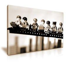 LEGO Pranzo in groppa a un grattacielo FUNKY TELA WALL ART PICTURE PRINT 76x50cm