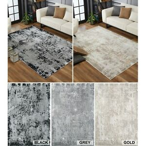 Serenity Modern Abstract Acrylic Contemporary Area Rugs Small -Large