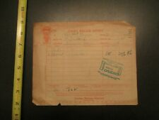 United Motor Sevice 1928 invoice Letterhead 513