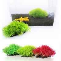 Faux Eau Aquatique Vert Herbe Plante Pelouse Décor Aquarium Fish Tank