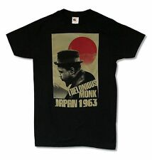 THELONIOUS MONK JAPAN BLACK T SHIRT NEW OFFICIAL JAZZ MUSIC ADULT SMALL