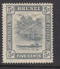 BRUNEI SG67 1931 5c GREY MTD MINT