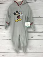 Disney Baby One Piece Size 3 / 6 months Mickey Mouse Hoodie Warm New