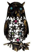 Decorative Metal Bright Metallic Small Owl Bird Wall Art Random
