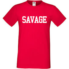 SAVAGE T Shirt Tee Top Cool Funny Mens Womens Ladyfit Kids Dope Swag S-5XL