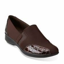 Clarks Women's Gael Beam Loafer Brown 26104691--US SIZE 7W