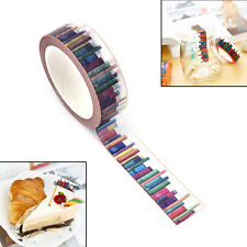 15 mm*10m DIY Library Washi Tapes Decorative Adhesive Tapes School Supplies UK`