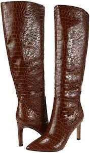 NINE WEST Womens Maxim Leather Tall Knee-High Boots
