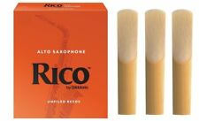 Rico Alto Sax Saxophone Reeds 3 x 2 Strength Reeds. Free Postage. 2.0 x 3