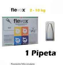 Pipeta fipronilo FLEVOX 0,67 ml anti pulgas y garrapatas para perros de 2-10 Kg