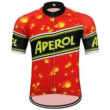 RETRO APEROL Cycling Jersey Shirt Tricot Maillot Short Sleeve Bike Pro Clothing