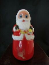 "Vintage Plastic Fun World Christmas Santa Claus Friction Toy ~2.25"" x 3.5"""