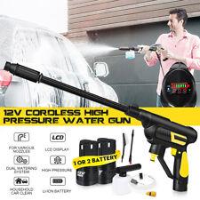 12V Pressure Washer Cordless Power Portable Car Window Speed Cleaner Gun NEW