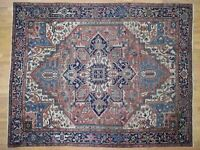 """10'1""""x12'8"""" Antique Farsian Seeripe Exc Cond Pure Wool Hand-Knotted Rug R40818"""
