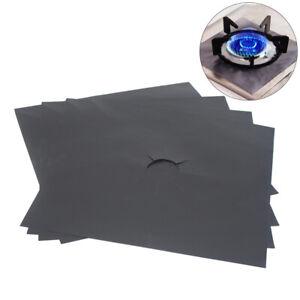 1/2/4pcs Universal Reusable Hob Black Protector Heavy Duty Oven Liners Sheets