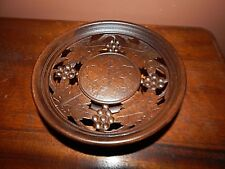 Rogue musical bowl, Antique, Beautiful Carved Walnut, Condition is exceptional