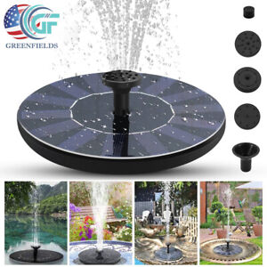 Solar Powered Floating Bird Bath Fountain Outdoor Pond Garden Patio Water Pump