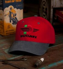 Ducati Red Embroidered Cap Hat Metro Racing - NEW