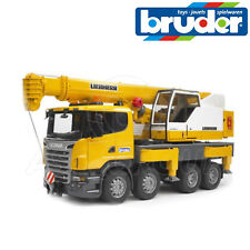 Bruder 03570 Scania R-Series Crane Truck with Working Liebherr Crane 1:16 Scale