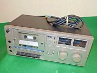 TELETON C381BS Black Stereo Cassette Deck Vintage Tape Unit Dolby Japan FAULTY