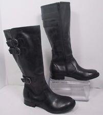 "Born ""Atilla"" Tall Black Leather Knee High Fashion Boots Sz 6.5M"