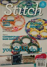 Stitch UK Gothic Rings Contemporary Band Sampler #93 Feb Mar 2015 FREE SHIPPING