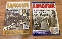 The Armourer Military Magazine lot of 2: 2013 // Machine Gun and Pack Transport