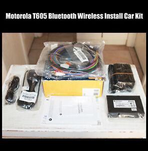 Motorola T605 Bluetooth Wireless Install Car Kit Handsfree Cell Electronics