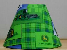 John Deere Lampshade lamp shade desk table  Handmade fabric tractor farm