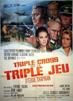 Plakat Triple Kreuz Oder Triple-Set Romy Schneider Yul Brynner - 120 X 160 CM
