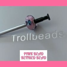 TROLLBEADS ORIGINAL PINK BEAD RETIRED BEAD