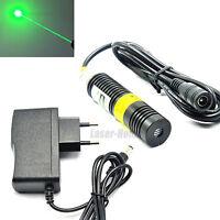 532nm 10mw Green Dot Laser Diode Module w/AC Adapter 18x75mm Long Time Working