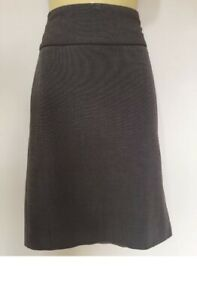Jacqui-E Skirt Corporate Business Straight Brown Winter Ladies Size 10-12