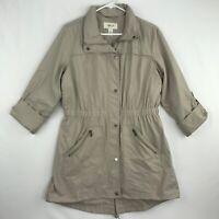 Style & Co Womens Size Small Anorak Jacket Windbreaker Water Resistant Beige