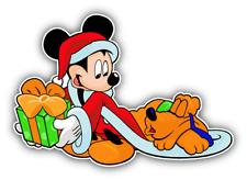 Mickey Mouse Present Cartoon Car Bumper Sticker Decal 5'' x 3''