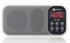 White Hi-Rice SD-102 FM Radio USB TF Card MP3 Player LED Multifunction Speakers