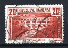 "FRANCE STAMP TIMBRE N° 262B "" PONT DU GARD 20F DENTELE 11 "" OBLITERE A VOIR T001"