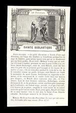 santino incisione 1800 S.SCOLASTICA