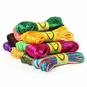2.5mm 20M Chinese Knot Cord Satin Braided String Jewelry findings for DIY Crafts