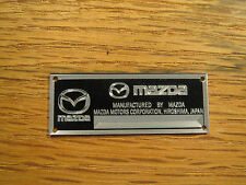Mazda Metal Display Plaque RX7 RX8 MX-5 Miata Kyosho MX5 RX3 1/24 1/18 1/43 1/87
