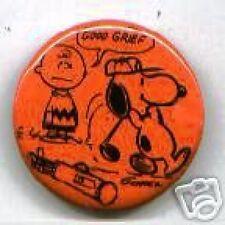 1968 SNOOPY + CHARLIE BROWN pin GOLF PEANUTS gang
