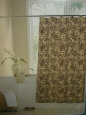 Cheetah Leopard Animal Print Brown Bath Shower Curtain Decor