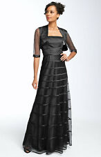 3ba13d403 NEW JS COLLECTIONS Ribbon Mesh & Bolero DRESS GOWN SIZE 4 BLACK NORDSTROM