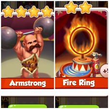 Coin Master Card's Bundle *** Armstrong & Fire Ring *** Fast Delivery